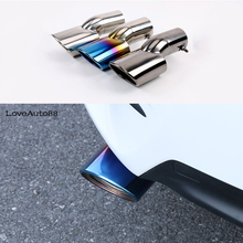 Car Exhaust Muffler Tip Stainless Steel Pipe Chrome Trim Car Rear Tail Chrome For Honda 10th Civic 2016 2017 Car Accessories цена и фото