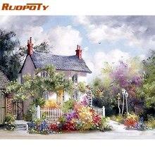 Набор для рисования по номерам на холсте «Деревенский Дом» 40