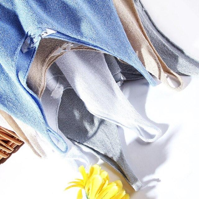 Slim Sexy V-neck Knit Shiner Base Shirt Gallus Waistcoat 20