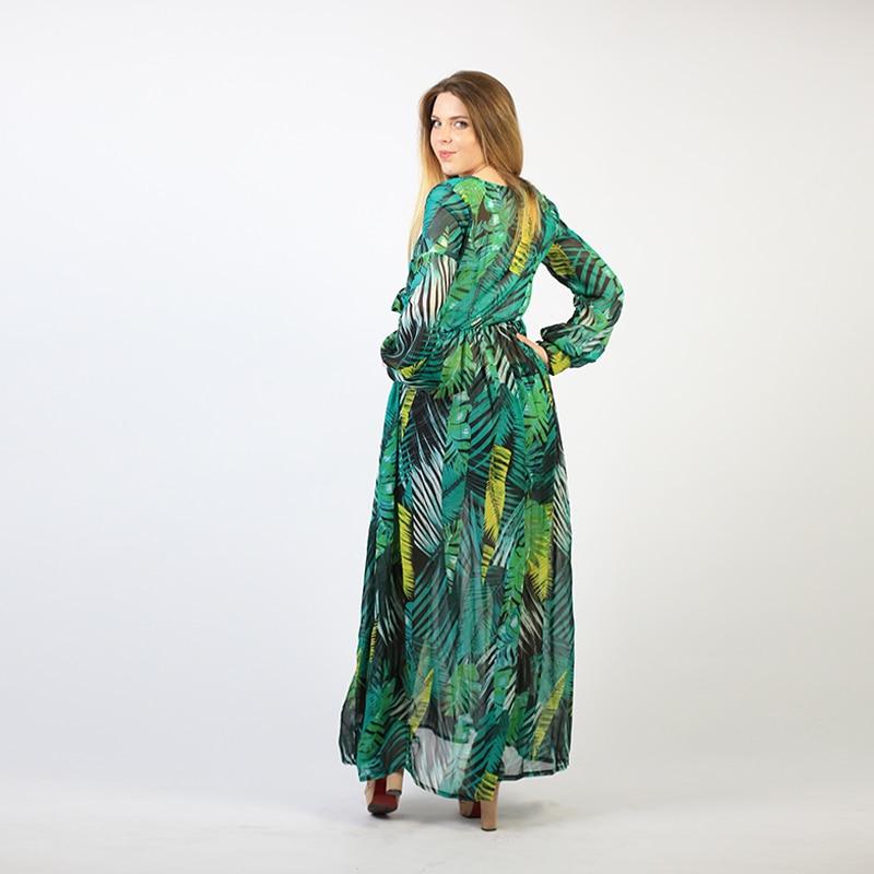 Summer Beach Maxi Dress Women Deep V Neck Print Party Dress Lace-Up Sexy Ladies Bohemian Dresses Elegant Long Dress 4