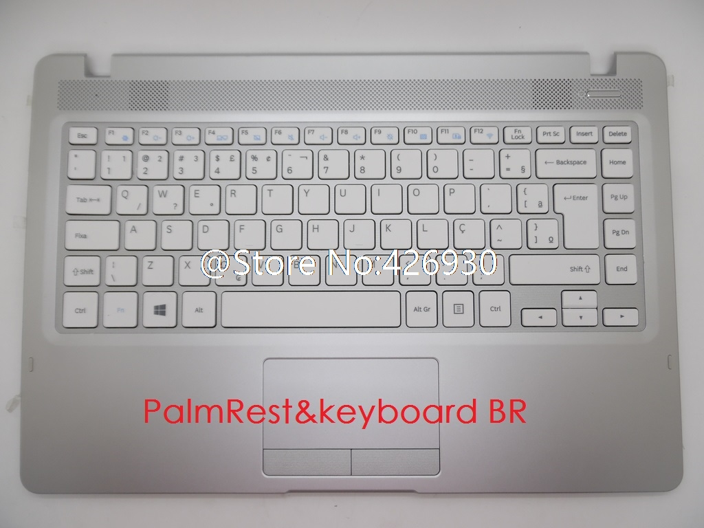 Laptop PalmRest keyboard For Samsung NP500R4K NP500R4L 500R4K 500R4L English US Brazil BR BA98 00890P Touchpad
