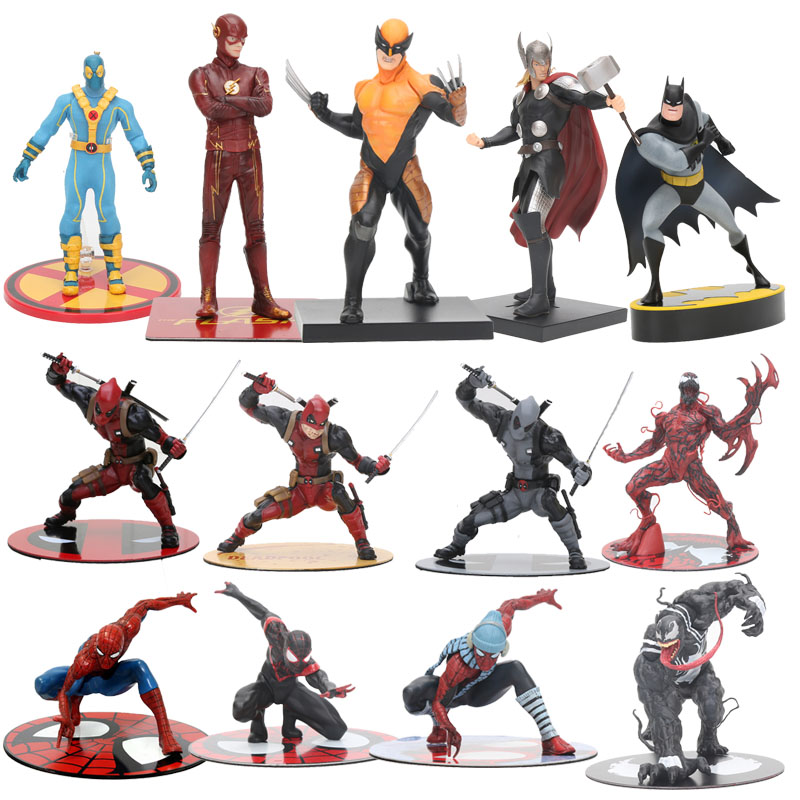 The Avengers Figure Toy The Amazing Spiderman Venom Carnage Wolverine Thor Deadpool Figure ARTFX 1/10 Scale Statue Brinquedos