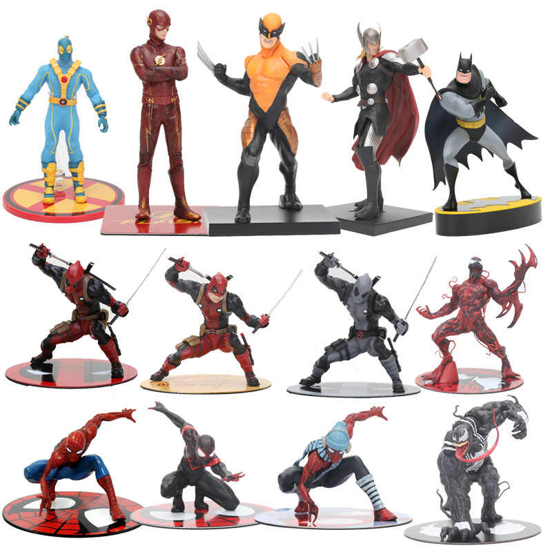 The Avengers figura toy The Amazing Spiderman Venom Carnificina Deadpool Wolverine Thor Figura Estátua ARTFX 1/10 Escala Brinquedos