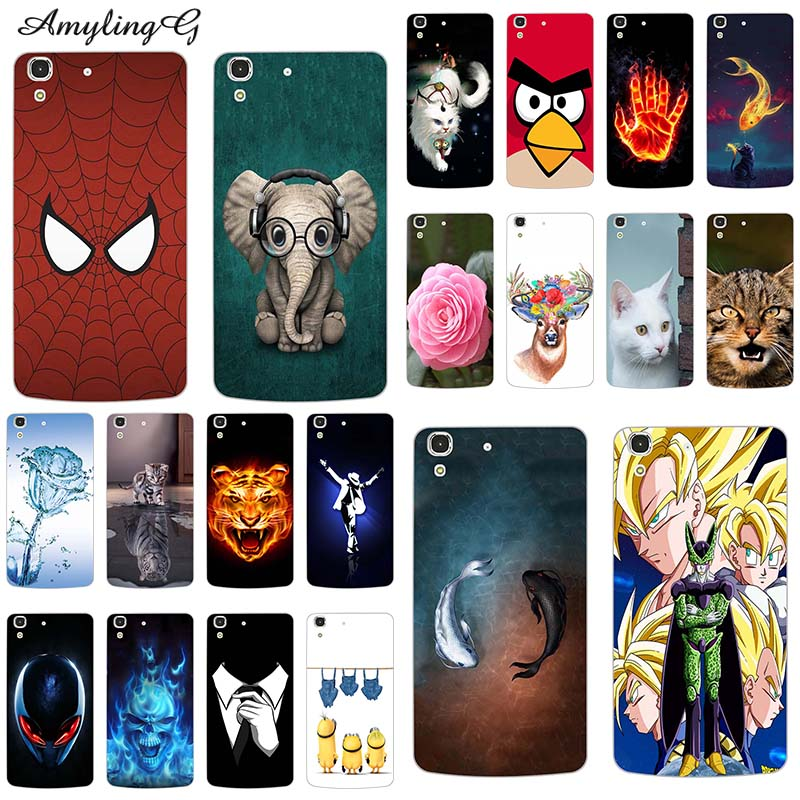 Case For Cell-Phone-Covers Huawei Funny Y6/honor SCL-L21 Capa Printed Colorful 4A Full