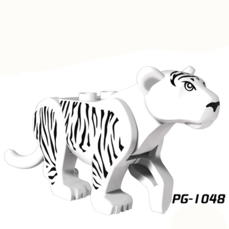 PG1048 Mini Dolls in use of white tiger forest adventure series is compatible with Building Blocks