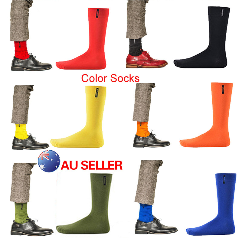 hirigin new fashion 1 Pair Men Socks British Style Crew Plain Colour Vintage Casual Socks male solid socks
