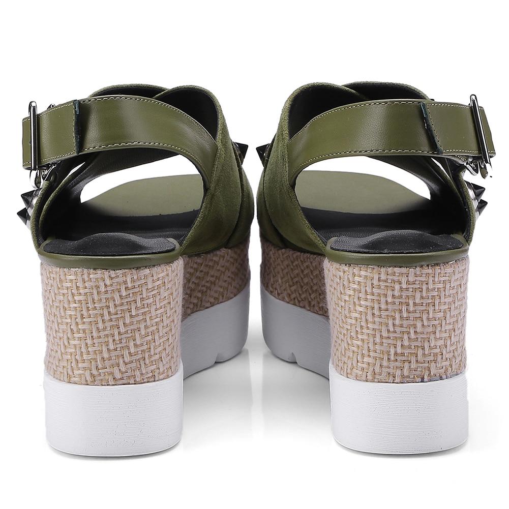 Daim Taille Plate Chaussures En Sarairis Épais Femmes Été 34 Noir Qualité Mode Compensées Haute Enfant vert Semelles Sandales Grande 2019 Femme 42 Naturel forme À Z04Zzq