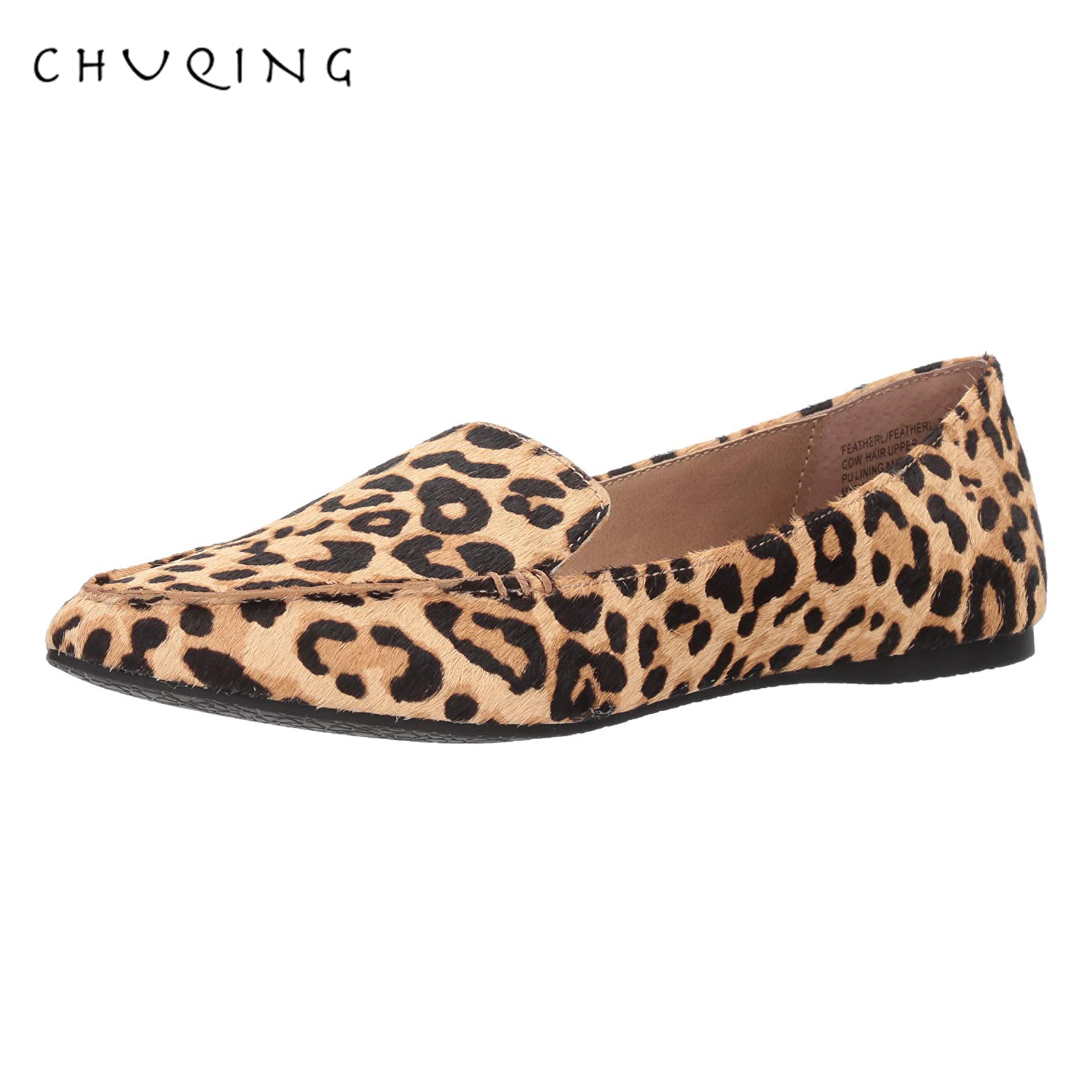 Women's Casual Flat Shoes Loafers Women Fashion Comfortable CHUQING Brand Leopard Shoes Spring And Autumn Trend