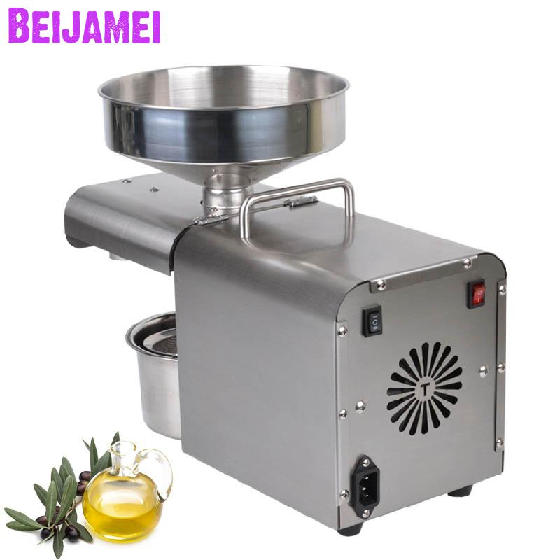 BEIJAMEI 1500W Home Oil Pressers Commercial Peanut Oil Extraction Stainless steel Walnut/Perilla seeds oil maker 220V/110VBEIJAMEI 1500W Home Oil Pressers Commercial Peanut Oil Extraction Stainless steel Walnut/Perilla seeds oil maker 220V/110V