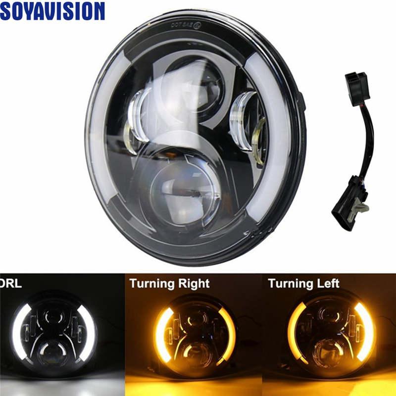 7 inch Led Headlight halo for Harley Motorcycle DRLTurn Signal Lights with 7 inch headlight bracket.7jp7.7jpg.j7pg.jp4g