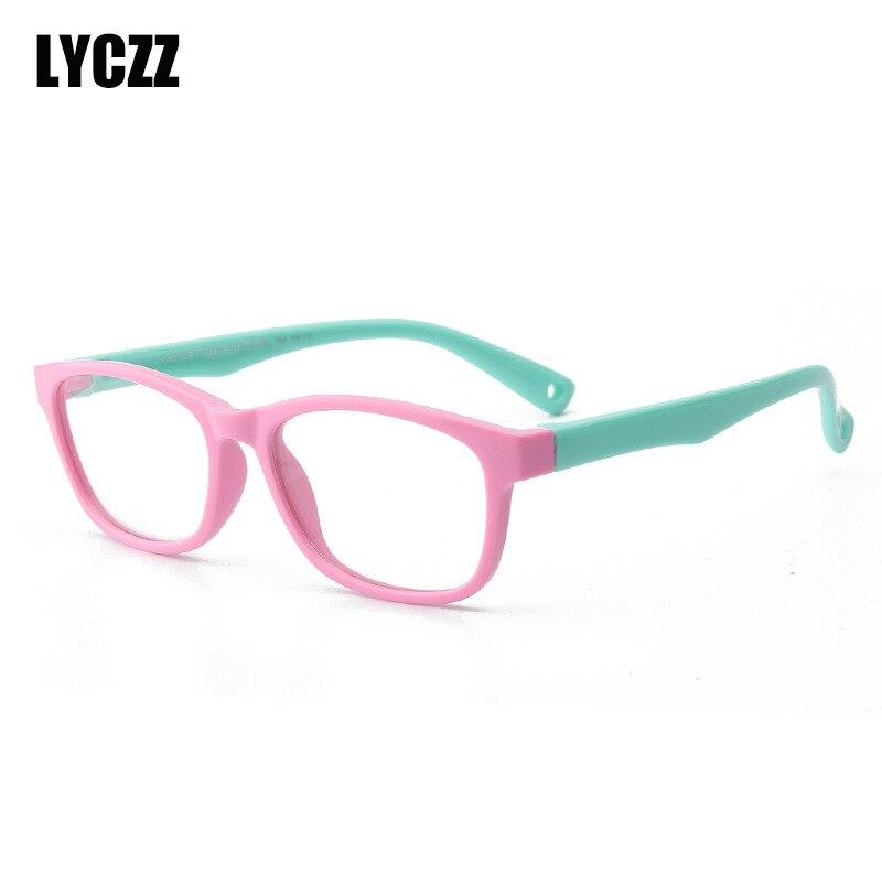 Lyczz Marke Neue Kinder Brille Rahmen Tr90 Material Rahmen Mode Trend Kinder Brillen Retro Brille Brillen Für Baby