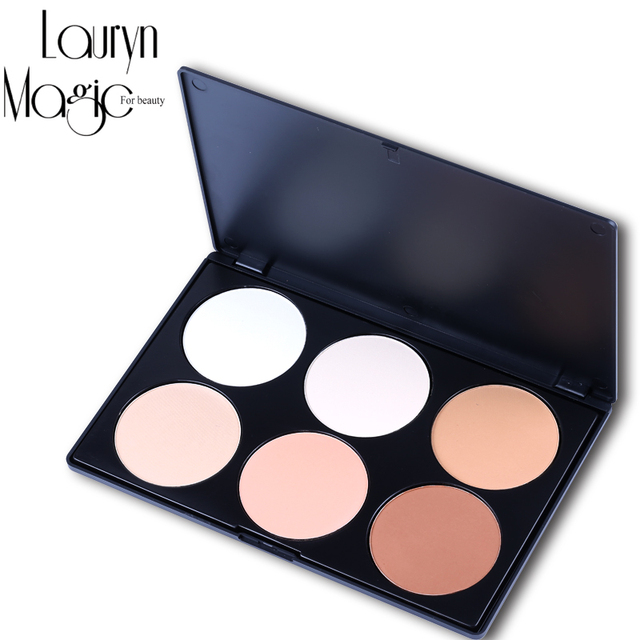 Lauryn Magic for beauty Professional 6 Color Pressed powder Makeup Set Palette