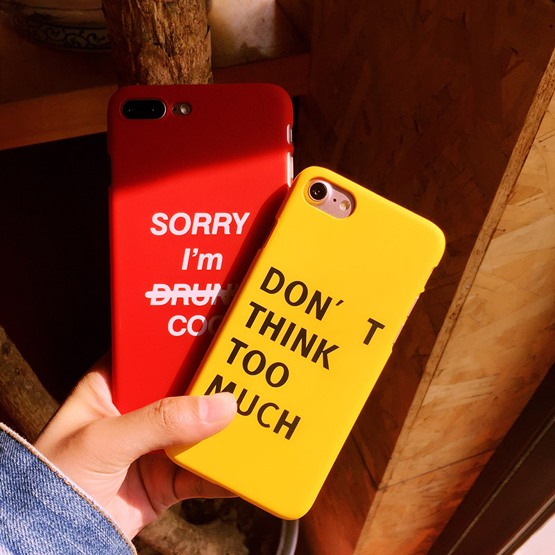 Para el iphone 7 plus Simple caso duro 6 splus cubierta mate para iphone 6 fresc