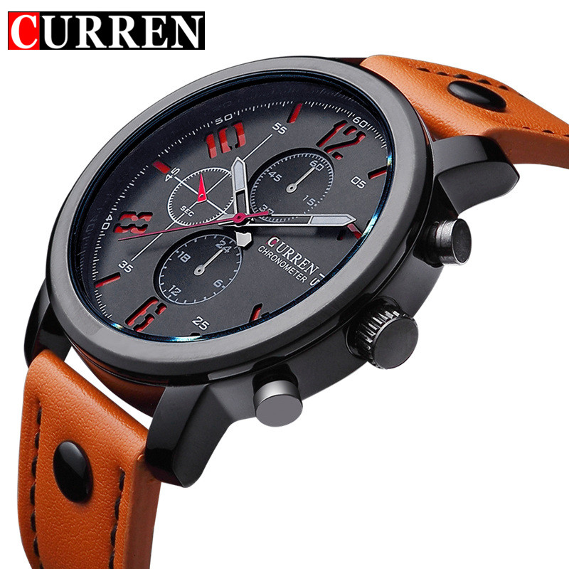 Curren Men's Sports Quartz Watches Mens Watches Top Brand Luxury Leather Wristwatches Relogio Masculino Men Curren Watches 8192 relogio masculino original curren wristwatches mens watches top brand luxury silicone sports watches military army waterproof