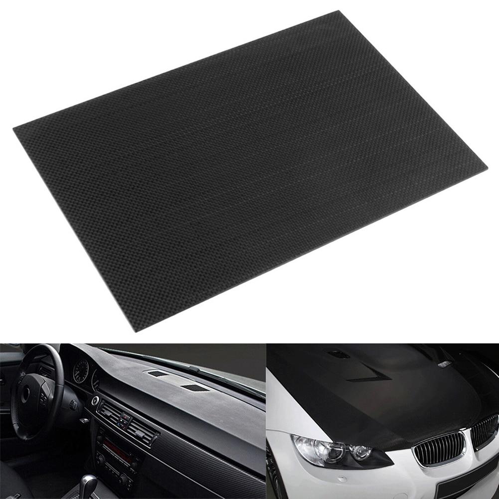 1pc Full Carbon Fiber Board High Strength RC Carbon Fiber Plate Panel Sheet 3K Plain Weave 7.87X7.87X0.06 Balck Glossy Matte