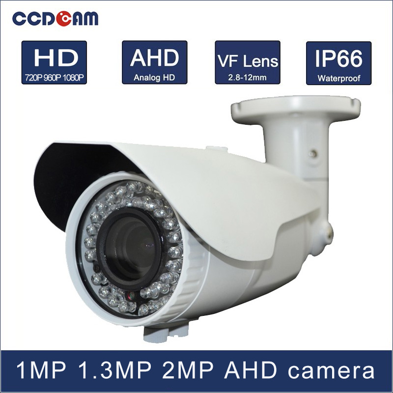 CCDCAM 40m IR distance 1MP 1.3 MP 2MP high definition day and night vision AHD 2.8-12mm VF lens camera for CCTV system