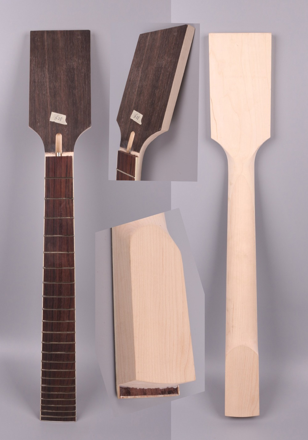 Yinfente 7 string electric guitar neck replacement 22 fret Paddle head maple rosewood fretboard guitar maker 25.5 inch