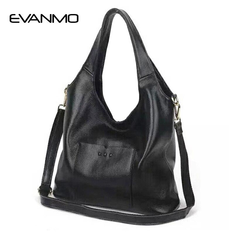 все цены на Soft Real Genuine Leather Shoulder Women Handbag Elegant Ladies Hobo Shoulder Bag Messenger Purse Satchel Red Bag онлайн