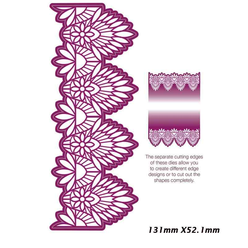Tojin Lace Edge Border Frame Metal Cutting Dies Stencils for DIY Scrapbooking Album Decorative Embossing Card Crafts Template