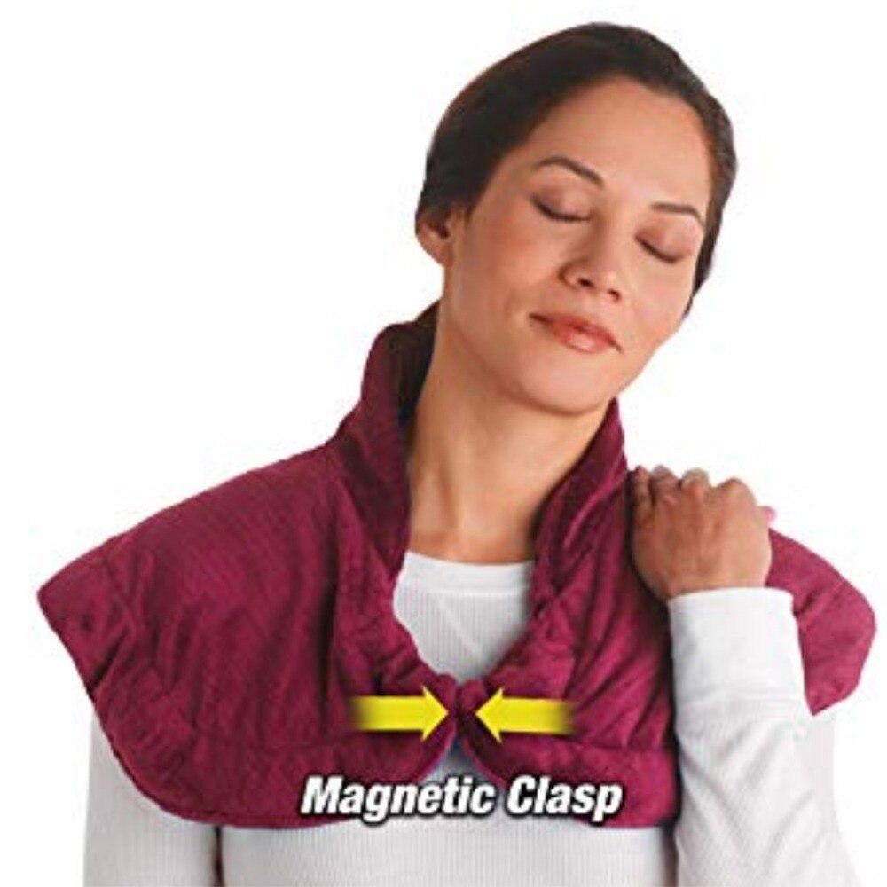 Thermapulse рельеф Обёрточная бумага бордовые удлиненные массируя тепла Обёрточная бумага с подогревом шаль сочетает в себе успокаивающее тепл...