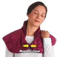 Thermapulse Relief Wrap Burgundy Extra Long Massaging Heat Wrap heated shawl combines soothing heat and massage Accessories hot
