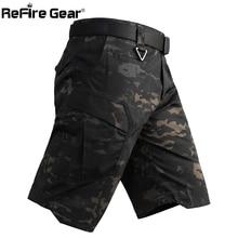 ReFire Gear Nam Camo Chiến Thuật Quân Đội Quần Ngắn Quân Sự Chiến Đấu Đa Năng Bỏ Túi Quần Shorts Lính Mùa Hè Chống Nước Làm Việc Quần Short
