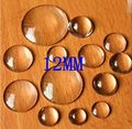 100Pcs 12MM Round Clear Glass Cover Cabochons Cameo Findings