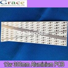 10 шт. 30 см x 1 см Алюминиевая печатная плата для 12x1 Вт, 3 Вт, 5 Вт светодиодный