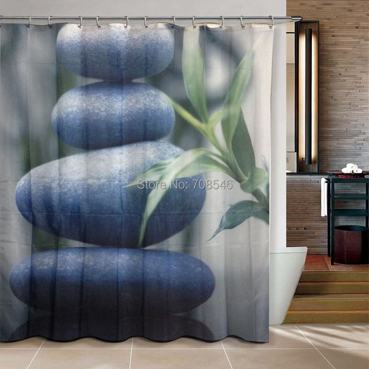 Four Stone Zen Bathroom Products Shower Curtain 180x200cm Bath Curtain  Bathroom Curtain Waterproof Cortina De Bano In Shower Curtains From Home U0026  Garden On ...