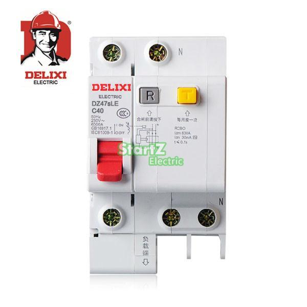 40A 1P+N RCBO RCD Circuit Breaker DE47LE DELIXI 50a 3p n rcbo rcd circuit breaker de47le delixi