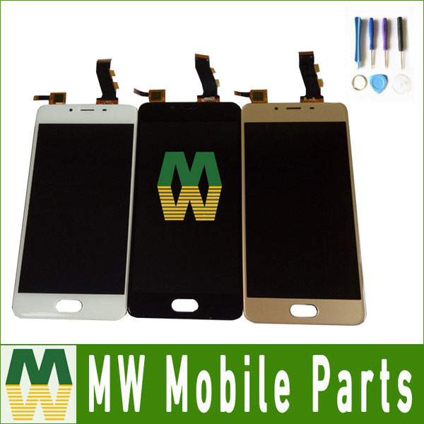 1PC /Lot For Meizu U10 LCD Display+Touch Screen Digitizer Assembly White Gold Black Color With Tools 5.0Inch