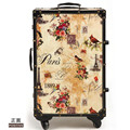 2016 new EVISPO French retro style romantic caster trolley luggage suitcase lockbox 20, 24 inch lovely men and women lockbox
