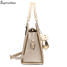 Soperwillton Women Bag Luxury Handbags Shoulder Patchwork Crossbody Messenger Women's Bag 4 Pieces Female Bolsa Feminina #1122