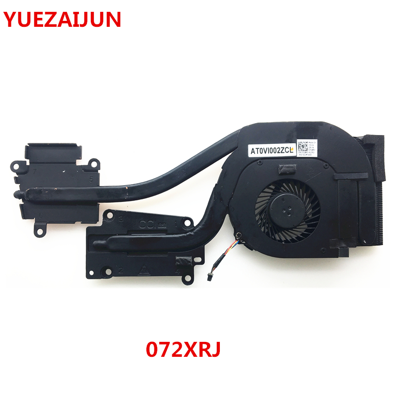 Новый вентилятор охлаждения процессора Dell Latitude E6540 с радиатором DP/N 072XRJ