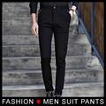 2017 Spring Autumn Fashion slim fit Men Formal Pants Straight Dress Mens Elastic Business Suit Trousers Male Pants black Navy