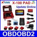Recentes XTOOL X100 PAD X 100 Auto Programador Chave Do Carro Com Resto de óleo E Ferramenta de Ajuste Odômetro X-100 PAD 100% Originais DHL livre
