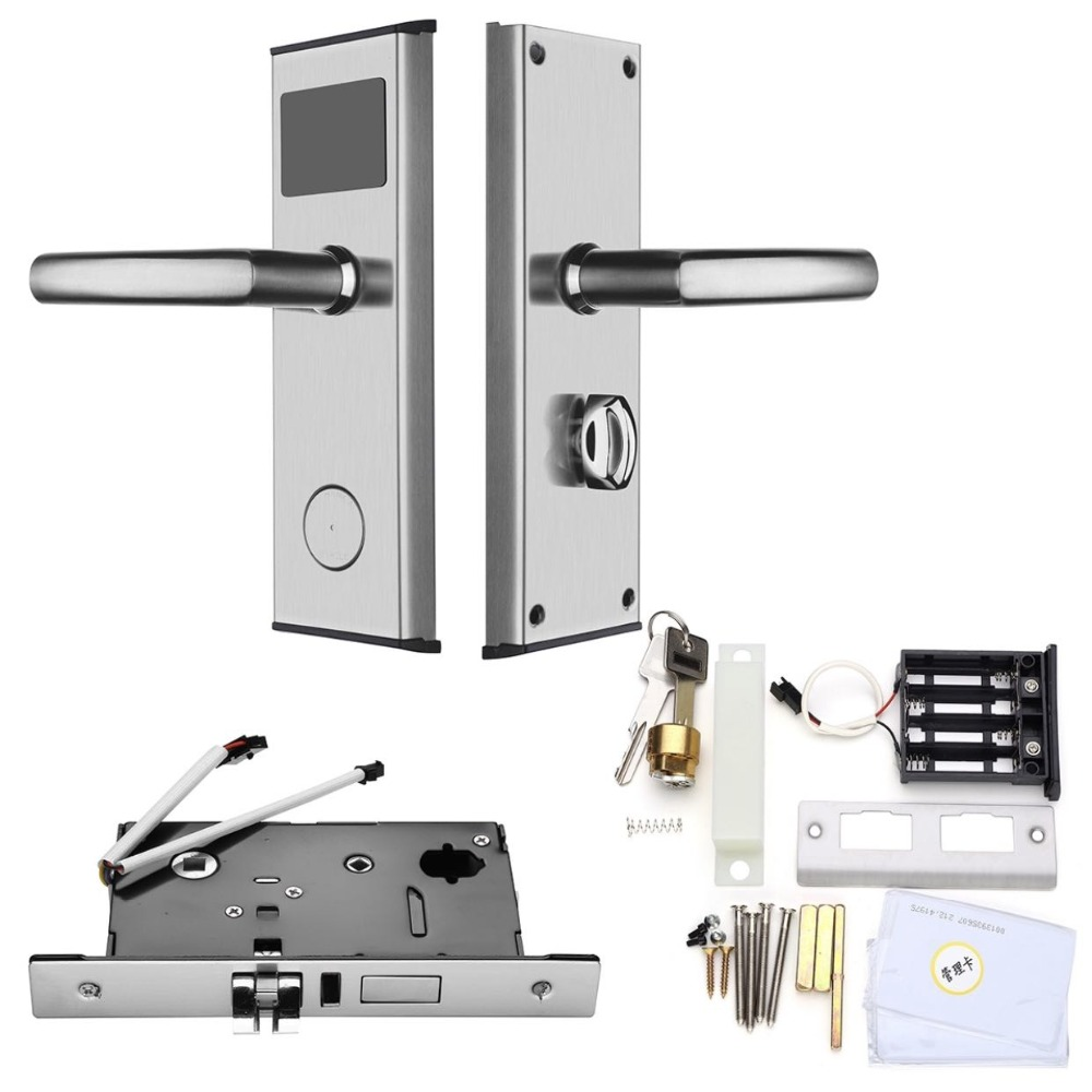 Promotion Hot Sale! Digital electric Electronic Smart RFID card Key hotel access control System lock ET100RF promotion hot sale electronic smart rf m1 hotel door lock controlled by software et100rf