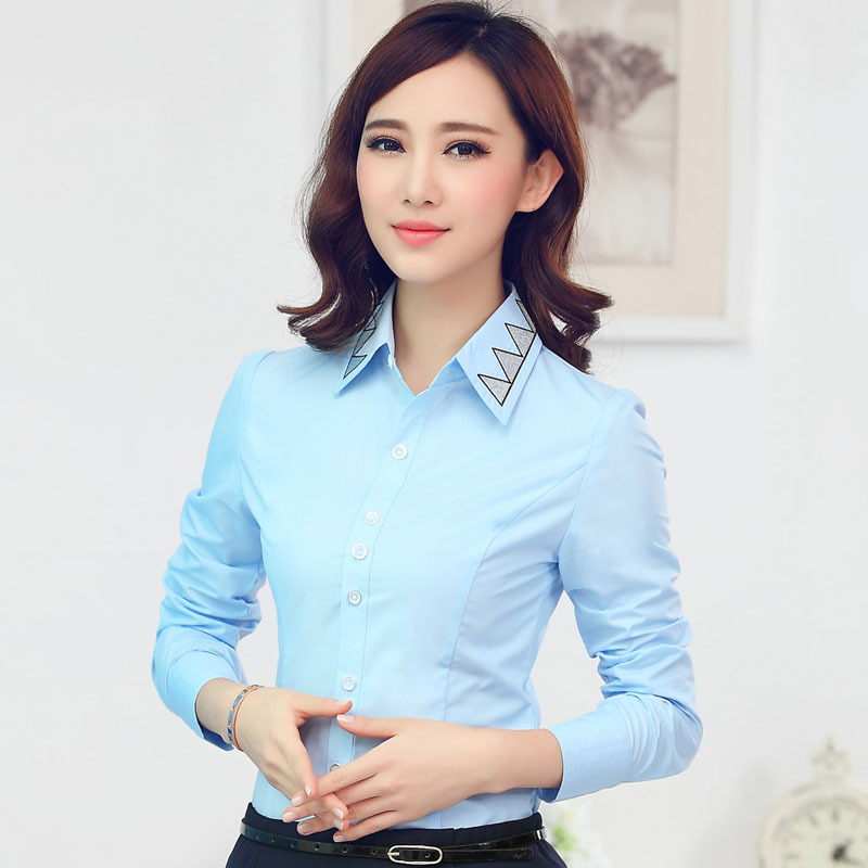 Online Shop Spring Autumn Fashion Women Blouses & Shirts Light ...