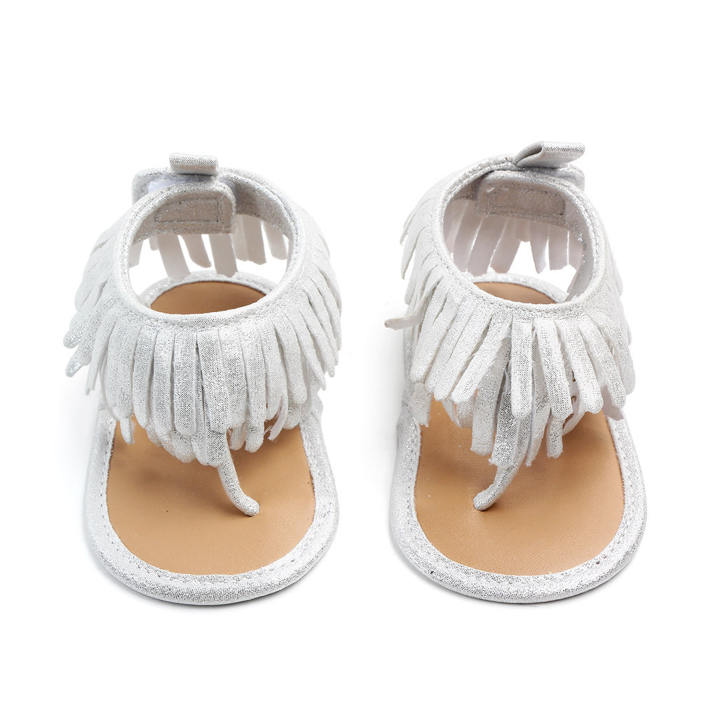 Summer Baby First Walkers For Newborn Soft Bottom Fringe Cute Shoes Girls Baby Toddler Slippers Boys Prewalker