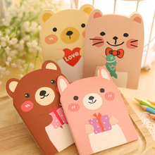 14X10cm 20 Sheets Cute Animals Cartoon Mini Notebook Diary Book Exercise Composition Notepad Escolar Papelaria Gift Stationery