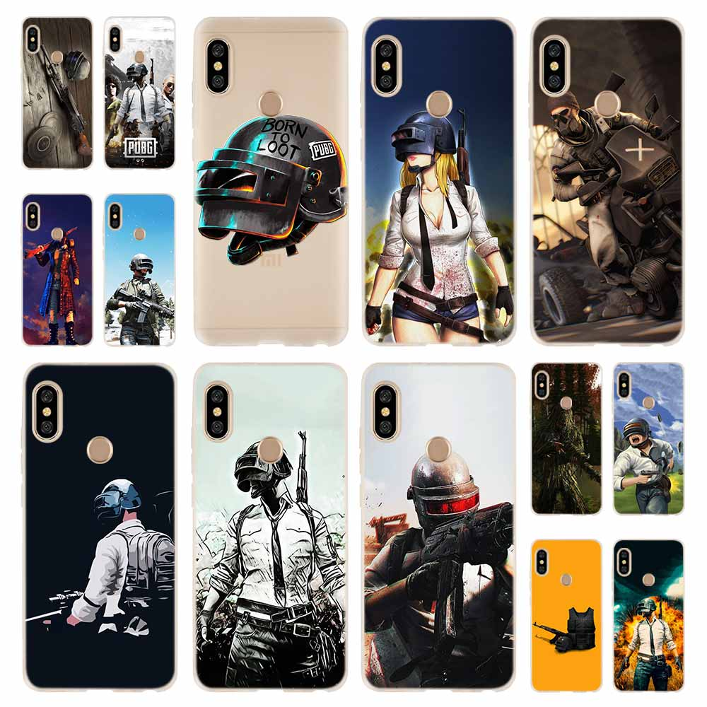 pubg batterground game Fashion Soft TPU Case Cover For Coque Xiaomi Redmi 8A 4A 5A 6A 4X 5 Plus 6 Pro Note 8 7 Pro 6 5 image