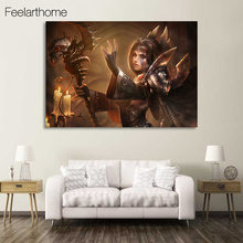 1 piece canvas art canvas painting game world of warcraft dmitriy HD printed home decor poster pictures for living room XA1671C