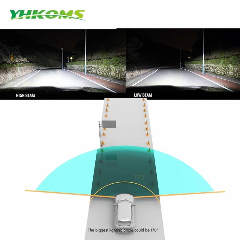 YHKOMS automobiliniai LED žibintai H4 H7 LED H8 H9 H11 9005 / HB3 - Automobilių žibintai - Nuotrauka 4