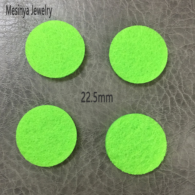 6 colors 22.5mm refill felt pads for 30mm Essential Oils Diffuser Lockets Perfume Aroma Locket pendant necklace