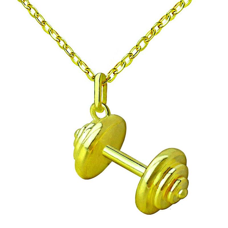 Barbell Pendant Necklaces for Women Sporty Jewelry Fashion Gifts for Bodybuilding Lovers Fashion Cloth Accessories