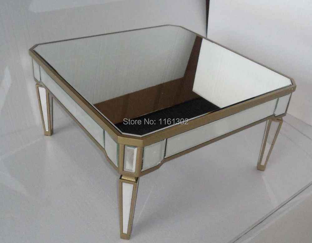 Buy MR 401054 Mirrored Living Room Furniture Coffee Table Fr