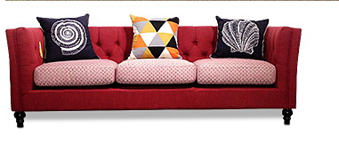 Newest Home Furniture European Modern Fabric Living Room Sofa Sectional Velvet Cloth Three Seater American