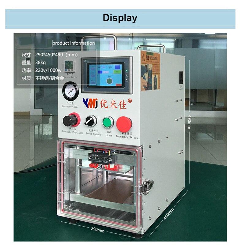 YMJ Vacuum OCA Máquina De Laminação Para Sumsung Borda S6 S6 + S7 S8 S8 + S9 S9 + Note8 Curvo borda da Tela de Toque Refubishing Máquina