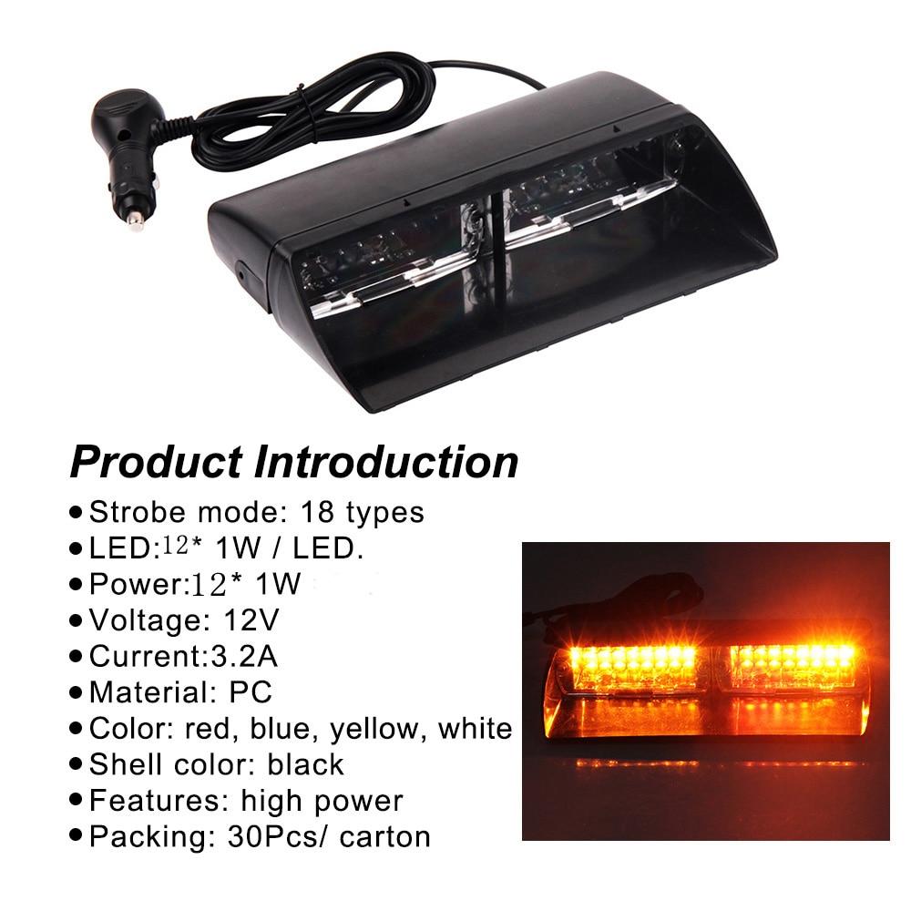 1 unid S2 Viper Parabrisas Led Luz estroboscópica Señal de flash - Luces del coche