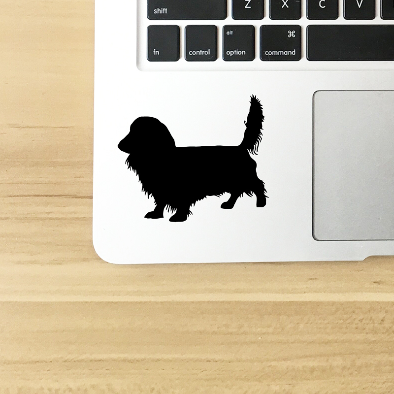 long Haired Dachshund Car Stickers